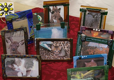 Green Hills Arts fused glass picture frames