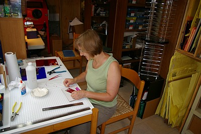 Kay Rolfes in the Green Hills Arts studio
